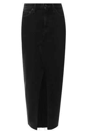 Джинсовая юбка-макси | Фото №1