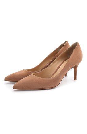 Женские замшевые туфли gianvito 70 GIANVITO ROSSI коричневого цвета, арт. G26770.70RIC.CAMPRAL | Фото 1