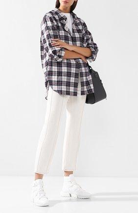 Женские комбинированные кроссовки sonnie CHLOÉ белого цвета, арт. CHC19S05075 | Фото 2