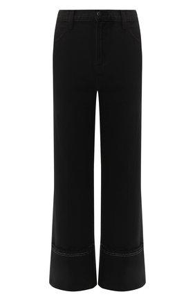 Укороченные джинсы прямого кроя   Фото №1