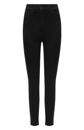Женские джинсы-скинни 7 FOR ALL MANKIND черного цвета, арт. JSCCA220LJ | Фото 1