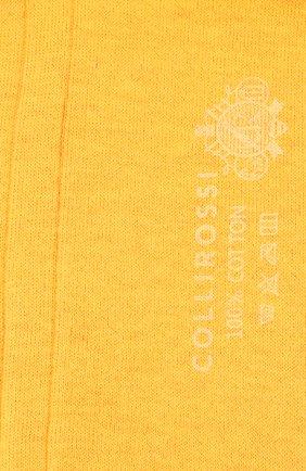 Мужские хлопковые носки COLLIROSSI желтого цвета, арт. UC4020-21/1 | Фото 2