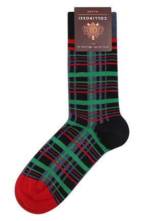 Мужские хлопковые носки COLLIROSSI синего цвета, арт. UFI4050-29/1 | Фото 1