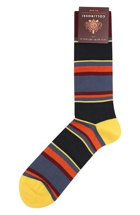 Мужские хлопковые носки COLLIROSSI желтого цвета, арт. UFI4040-5/1 | Фото 1