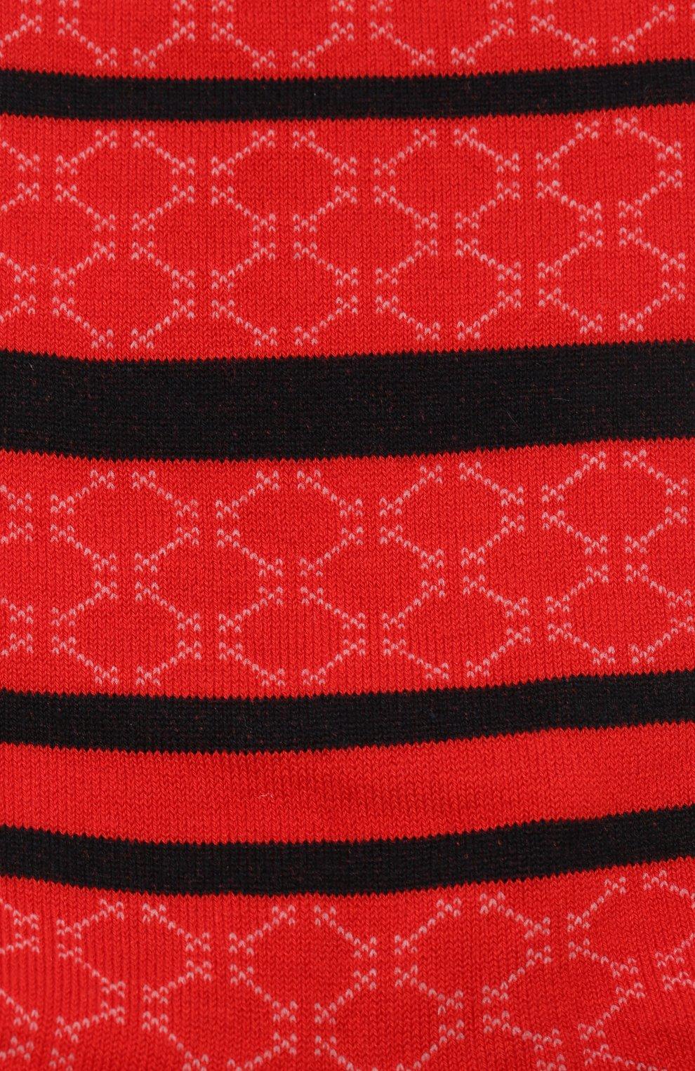 Мужские хлопковые носки COLLIROSSI красного цвета, арт. UFI4050-8/1 | Фото 2