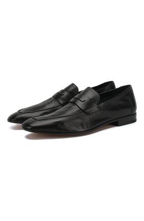 Мужские кожаные пенни-лоферы BERLUTI черного цвета, арт. S4392-001 | Фото 1