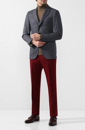 Мужские шерстяные брюки ANDREA CAMPAGNA красного цвета, арт. SC/1/VB1827 | Фото 2