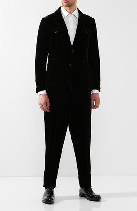 Мужской пиджак из вискозы GIORGIO ARMANI коричневого цвета, арт. 8WGGG02T/T0025   Фото 2 (Длина (для топов): Стандартные; Рукава: Длинные; 1-2-бортные: Однобортные; Пиджаки М: Приталенный; Стили: Классический)