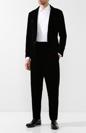 Мужской брюки из вискозы GIORGIO ARMANI коричневого цвета, арт. 8WGPP017/T0025 | Фото 2