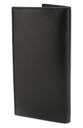 Мужской кожаный футляр для кредитных карт  BRIONI черного цвета, арт. 0HRP0L/07710   Фото 2