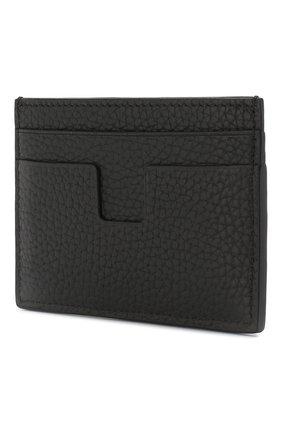 Мужской кожаный футляр для кредитных карт TOM FORD черного цвета, арт. Y0232T-CP9 | Фото 2