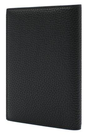 Мужская кожаная обложка для паспорта TOM FORD черного цвета, арт. Y0274T-CP9 | Фото 2