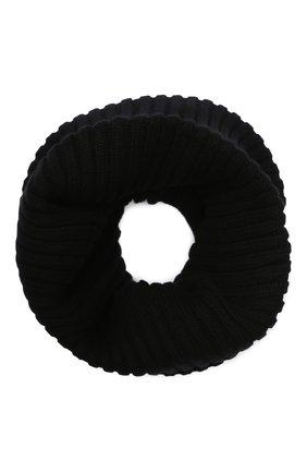Мужские кашемировый шарф-снуд DOLCE & GABBANA черного цвета, арт. I618KW/JAWMW | Фото 2