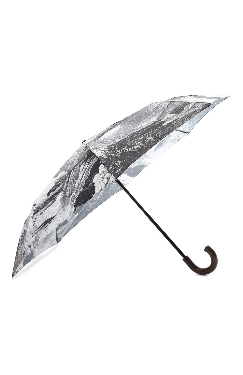 Складной зонт с принтом Burberry серый | Фото №2