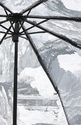 Складной зонт с принтом Burberry серый | Фото №3