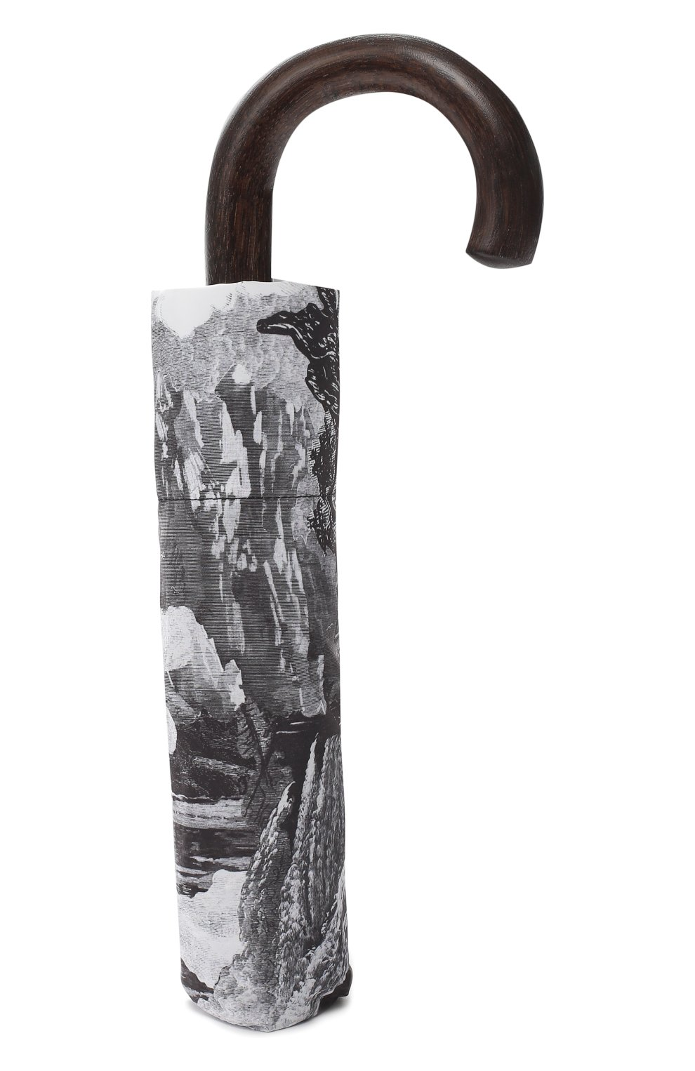 Складной зонт с принтом Burberry серый | Фото №4