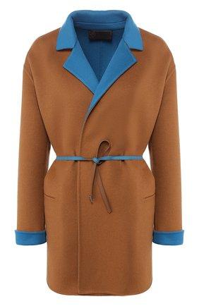 Женское шерстяное пальто LORO PIANA коричневого цвета, арт. FAF8502/VVIC | Фото 1