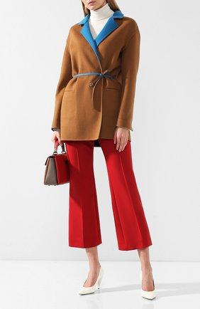 Женское шерстяное пальто LORO PIANA коричневого цвета, арт. FAF8502/VVIC | Фото 2
