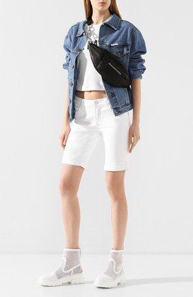 Женские джинсовые шорты PAIGE белого цвета, арт. 1798208-4520   Фото 2