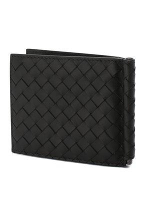 Мужской кожаный зажим для купюр с плетением intrecciato BOTTEGA VENETA черного цвета, арт. 123180/V4651 | Фото 2