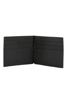 Мужской кожаный зажим для купюр с плетением intrecciato BOTTEGA VENETA черного цвета, арт. 123180/V4651 | Фото 3