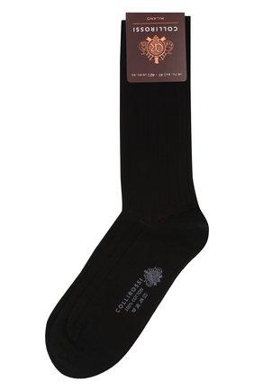 Мужские хлопковые носки COLLIROSSI черного цвета, арт. UC4020-21/1 | Фото 1