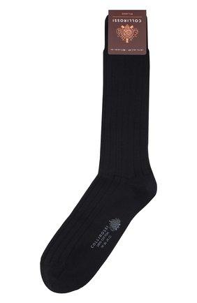 Мужские хлопковые носки COLLIROSSI темно-синего цвета, арт. UC4020-23/1 | Фото 1