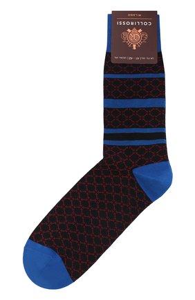 Мужские хлопковые носки COLLIROSSI синего цвета, арт. UFI4050-8/1 | Фото 1