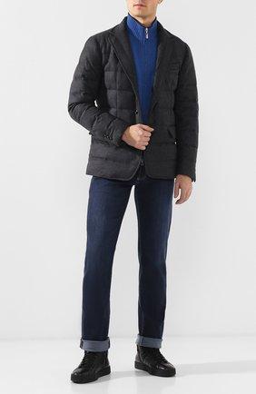 Мужские джинсы прямого кроя ANDREA CAMPAGNA темно-синего цвета, арт. AC102/T27.W835   Фото 2