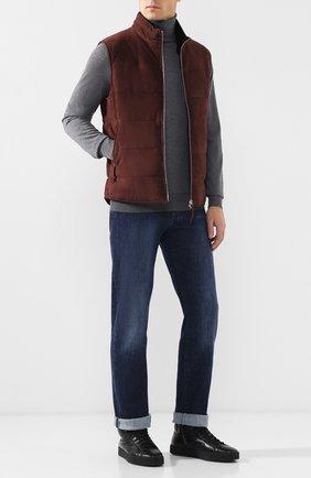 Мужские джинсы прямого кроя ANDREA CAMPAGNA темно-синего цвета, арт. AC102/T57.W852   Фото 2