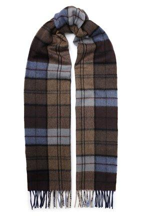Мужской кашемировый шарф ANDREA CAMPAGNA коричневого цвета, арт. 632349/SCARF | Фото 1