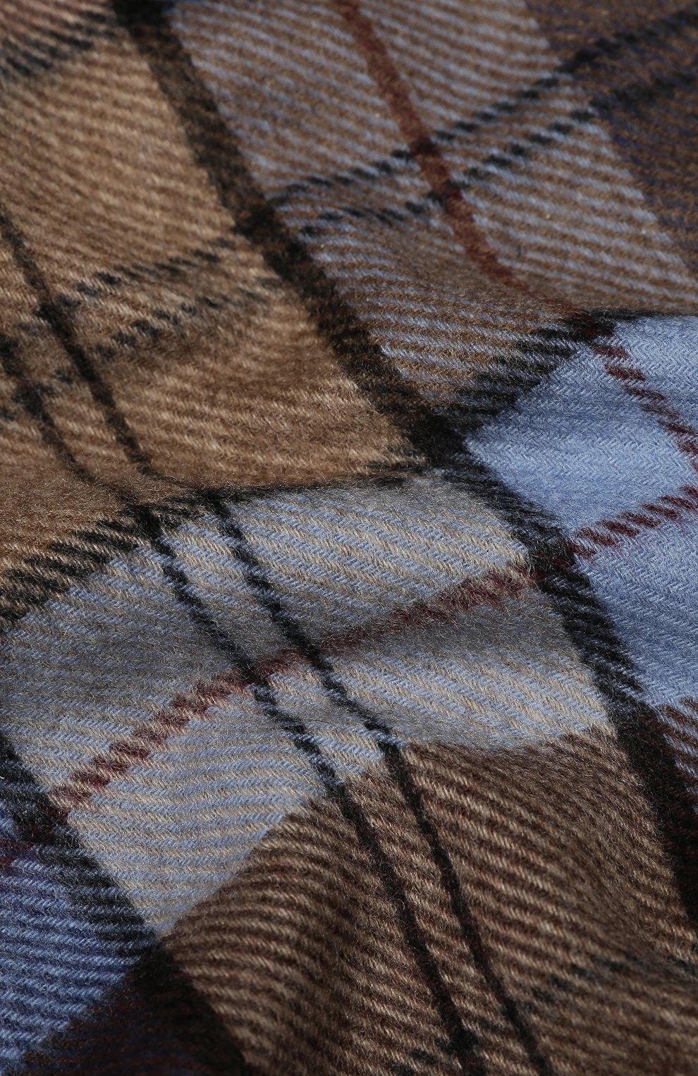 Мужской кашемировый шарф ANDREA CAMPAGNA коричневого цвета, арт. 632349/SCARF | Фото 2