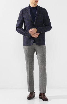Мужской брюки из смеси шерсти и кашемира ANDREA CAMPAGNA серого цвета, арт. SC/1/LP3007   Фото 2