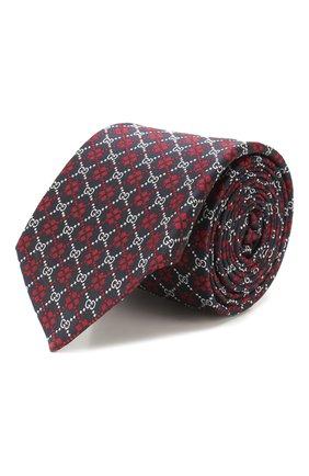 Мужской шелковый галстук GUCCI разноцветного цвета, арт. 545072/4E002 | Фото 1 (Материал: Текстиль; Принт: С принтом)