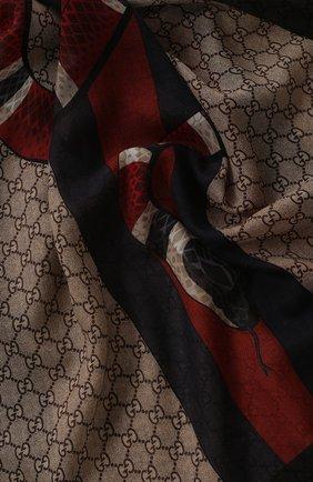 Мужской шерстяной шарф GUCCI разноцветного цвета, арт. 429733/4G200 | Фото 2