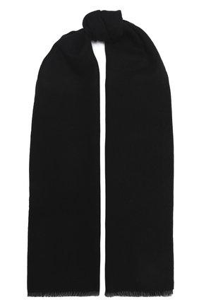 Мужской шерстяной шарф GUCCI черного цвета, арт. 402093/4G200 | Фото 1