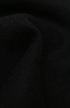 Мужской шерстяной шарф GUCCI черного цвета, арт. 402093/4G200 | Фото 2