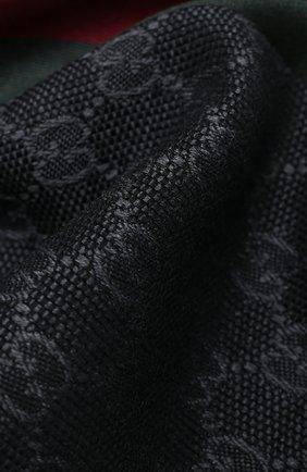 Мужской шарф из смеси шерсти и шелка GUCCI темно-серого цвета, арт. 147351/4G704 | Фото 2 (Материал: Шерсть; Кросс-КТ: шерсть; Статус проверки: Проверена категория)