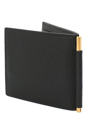 Мужской кожаный зажим для денег TOM FORD черного цвета, арт. Y0231T-CP9 | Фото 2