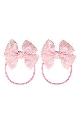 Детская комплект из двух резинок simple go JUNEFEE розового цвета, арт. 4876 | Фото 1