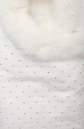 Детского комплект на выписку белуга CHEPE белого цвета, арт. 391018   Фото 3 (Материал внешний: Хлопок; Ростовка одежда: 0 - 3 мес   50 - 60 см)