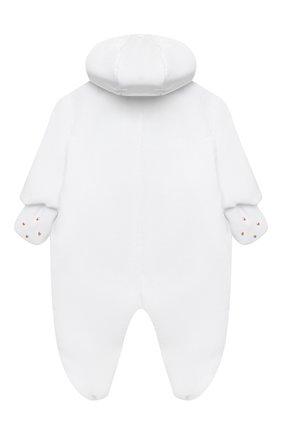 Детского комплект на выписку белуга CHEPE белого цвета, арт. 391018   Фото 5 (Материал внешний: Хлопок; Ростовка одежда: 0 - 3 мес   50 - 60 см)