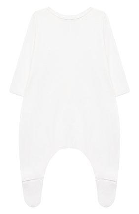Детского комплект на выписку белуга CHEPE белого цвета, арт. 391018   Фото 7 (Материал внешний: Хлопок; Ростовка одежда: 0 - 3 мес   50 - 60 см)