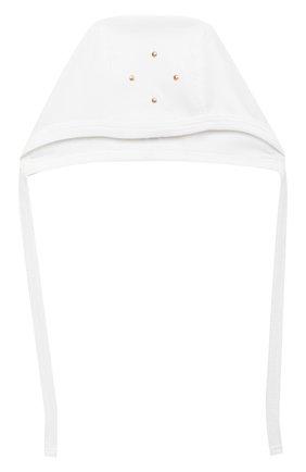 Детского комплект на выписку белуга CHEPE белого цвета, арт. 391018   Фото 10 (Материал внешний: Хлопок; Ростовка одежда: 0 - 3 мес   50 - 60 см)