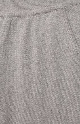 Детские кашемировые джоггеры LORO PIANA серого цвета, арт. FAG4728   Фото 3