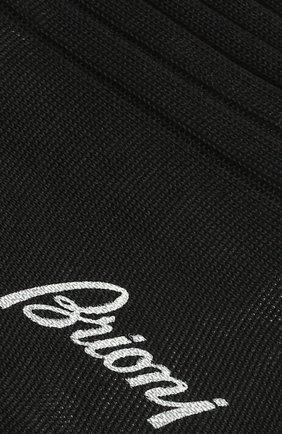 Мужские хлопковые носки BRIONI черного цвета, арт. 0VMC00/P3Z17 | Фото 2