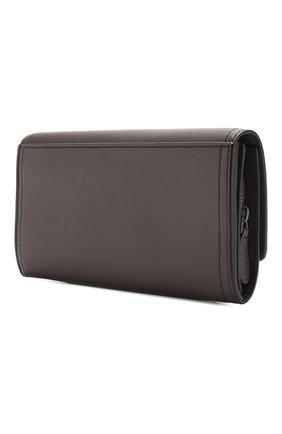 Кожаный кошелек Bottega Veneta фиолетового цвета | Фото №2