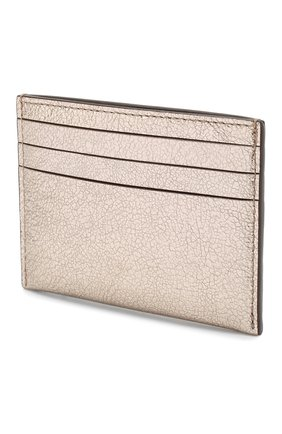 Женский кожаный футляр для кредитных карт COACH золотого цвета, арт. 59462 | Фото 2
