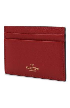 Женский кожаный футляр для кредитных карт valentino garavani rockstud VALENTINO красного цвета, арт. RW2P0486/B0L | Фото 2