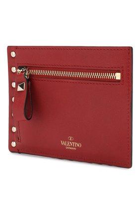 Женский кожаный футляр для кредитных карт valentino garavani rockstud VALENTINO красного цвета, арт. RW2P0Q60/B0L | Фото 2